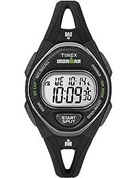 Timex Women's TW5M10900 Ironman Sleek 50 Black Silicone Strap Watch