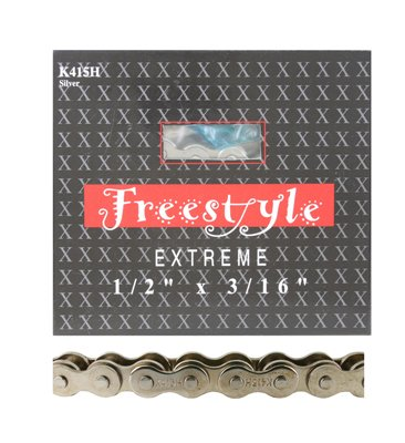 KMC 415H Chain .Single Speed. 1/2'' x 3/16'' x 98L .Silver by KMC (Image #1)