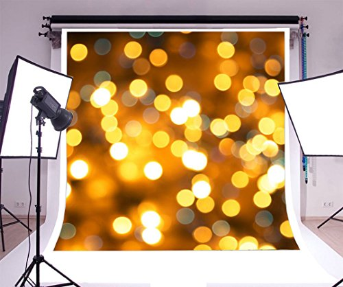 Dreamy Lighting Glitering Dots Laeacco 8x8ft Photography Background Vinyl Portraits Background Photo Studio Props by Laeacco