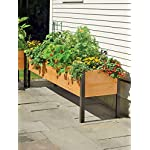 "2' x 8' Raised Garden Bed Elevated Cedar Planter Box Standing Garden 9 <p>At 29"" high, this attractive cedar planter is the perfect height for easy growing, eliminating the need to stoop, bend, kneel and reach. It's a generous 10"" deep so you can grow big plants like tomatoes and root crops like carrots. With 16 square feet of growing space, there's plenty of room for multiple crops, yielding a generous harvest. Set up one or more of these rectangular beds around the edge of your patio to create a convenient kitchen garden, or fill them with flowers for a stunning display. Like our other cedar raised beds, the sides are held in place with our sleek and sturdy aluminum corners. Slatted cedar box base: excess water drains through slats; vents in the sides allow air to circulate and excess moisture to evaporate. ERGONOMIC and EASY- Easily grow vegetables and flowers without kneeling or bending. Perfect for your deck, patio or backyard. Being elevated, it keeps your crop pest free of rabbits, moles, and other ground pests. GENEROUS SIZE - Add 16 square feet of growing space on your porch, patio or deck overall size is 96""Lx24""Wx29""H. The bed is 10 inches deep so you can grow big plants like tomatoes and root crops like carrots. LONG LASTING and STRONG - Attractive look made from naturally rot-resistant cedar with heavy duty rustproof aluminum legs and corners SPECIAL BONUS - Includes free planting guide USA MADE! - Made in beautiful Vermont USA!</p>"