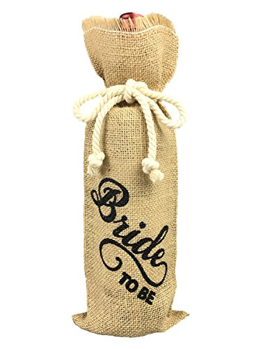 Bride to be Wine Bottle Cover, Engagement Party Gift Bag, Wine Bottle Cover Burlap to Engaged Couple, Bachelorette Party Favor