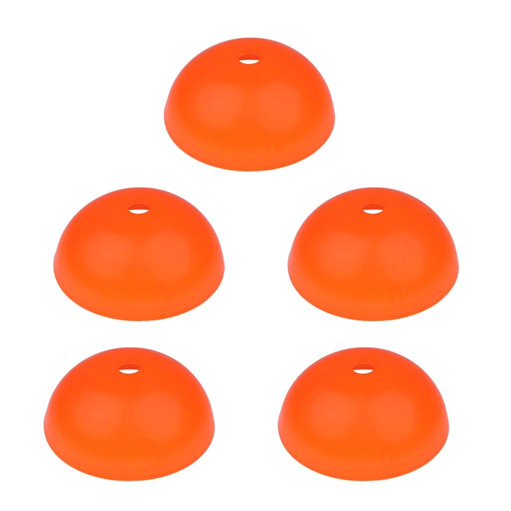 monkeyjackのセット5 Pro Disc Cones Agility Cones forトレーニング、サッカー、フットボール、バスケットボール、フィールドマーカー B077XTKM72 オレンジ