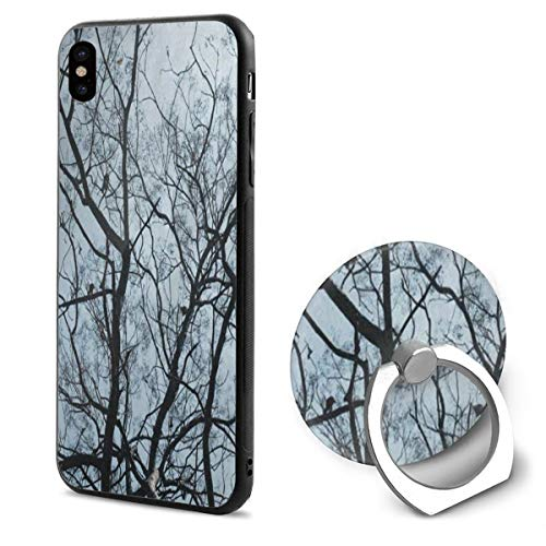 iPhone X Case Brich Tree Forest Bird Sky Phone Holder Mobile Phone Shell Ring Bracket Customized (Trees Brich)