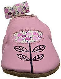 Robeez Tina Tulip Soft Sole Crib Shoe (Infant), Prism Pink, 6-12 Months M US