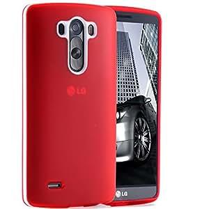 100pcs/lot TPU Colorful Cover + White Frame Case For LG G3 D858 D859 Slim Light Soft Back Cover Via DHL RCD04250 --- Color:red