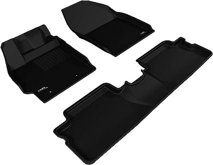 3D MAXpider Custom Fit Kagu Black 1st//2nd Row Floor Liners for Toyota Rav4