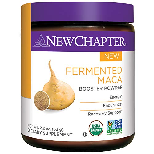New Chapter Organic Maca Powder – Fermented Maca Booster Powder for Energy Endurance Recovery Support 45 Servings