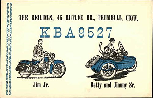 Call Sign KBA9527 - The Reilings, Trumbull, CT QSL & Ham Radio Original Vintage Postcard