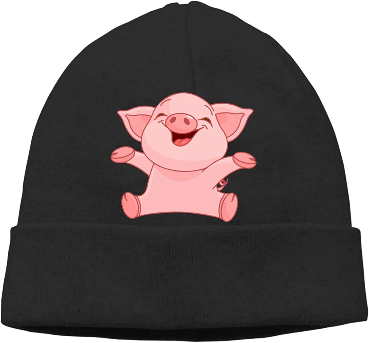 Unisex Cute Pig Soft Skull Beanie Cap Soft Hat