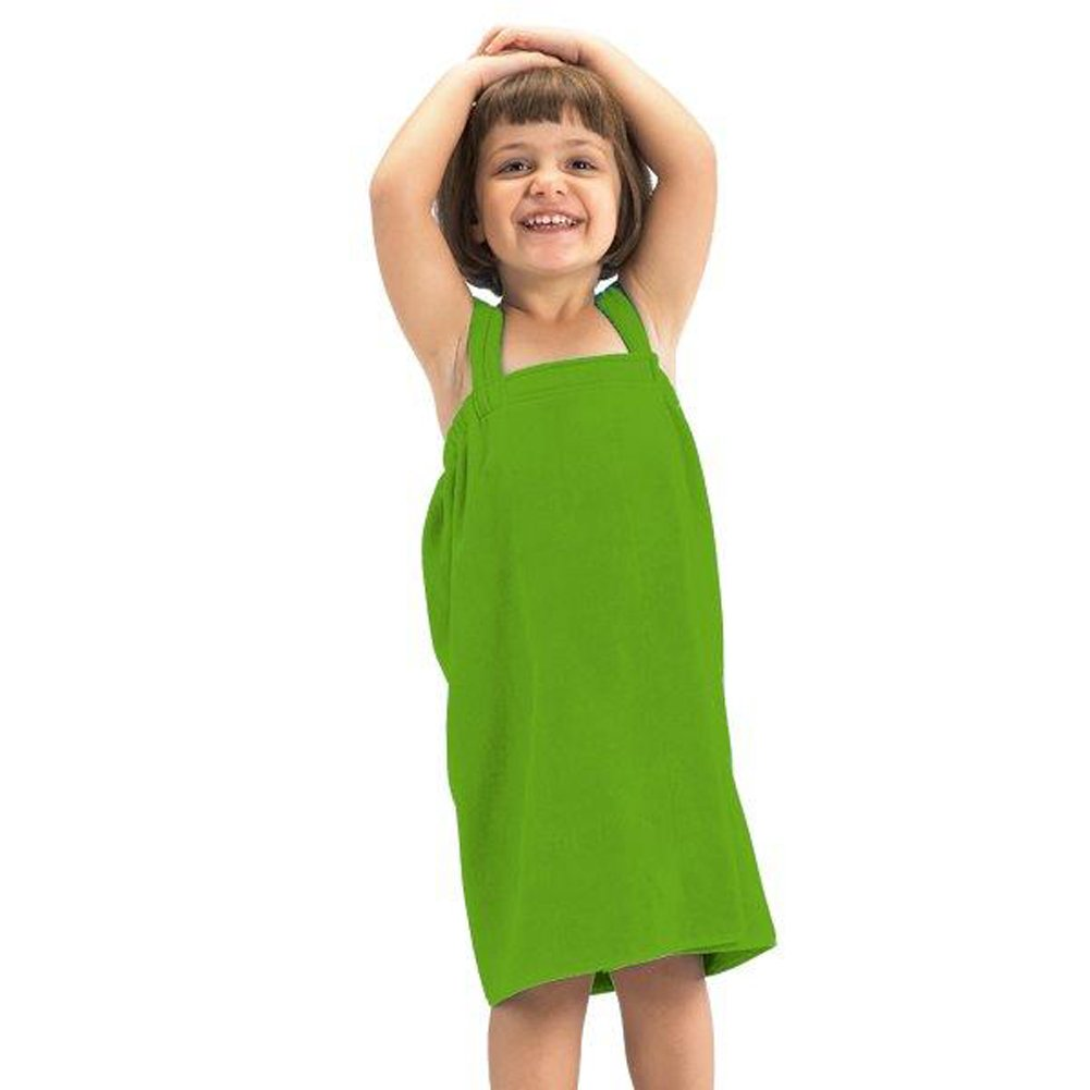 robesale Girl Spa Wrap, Lime - Small