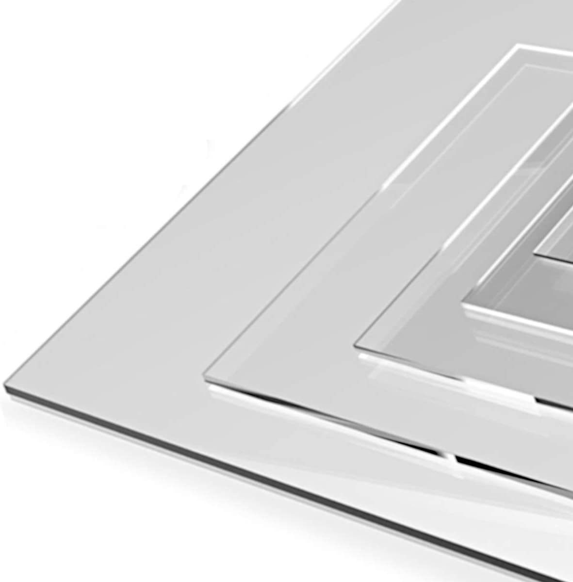 High Transparency Superior Quality A5 Clear Acrylic Plastic Perspex Sheet Panel Shatterproof 3mm 148 x 210 mm