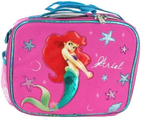 Disney Ariel Mermaid Pink Lunch Box Lunch Bag and Adjustable Strap Insulated