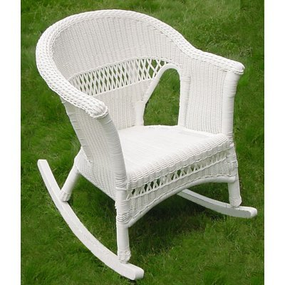 All Weather Grand Resin Wicker Rocker - Steel Frame
