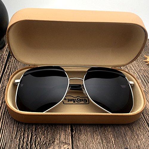 La de para caja Lentes Sol De Sol KLXEB Y De plata Gafas Gafas Luz De Anti De Gafas Sol Gafas De Sol Dorada Sol UV Oqw1qg