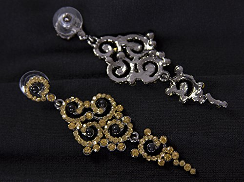 Vijiv Gatsby Earrings Art Deco Vintage 1920s Flapper Jewelry accessories Party