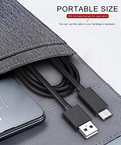 BELONGME Micro USB Cable Android, USB to Micro USB Cables High Speed USB 2.0 Sync and Charging Cables for Samsung, HTC, Motorola, Nokia, Kindle, MP3, Tablet and more, 6 Pack (2x1ft, 3x4ft, 1x6ft)