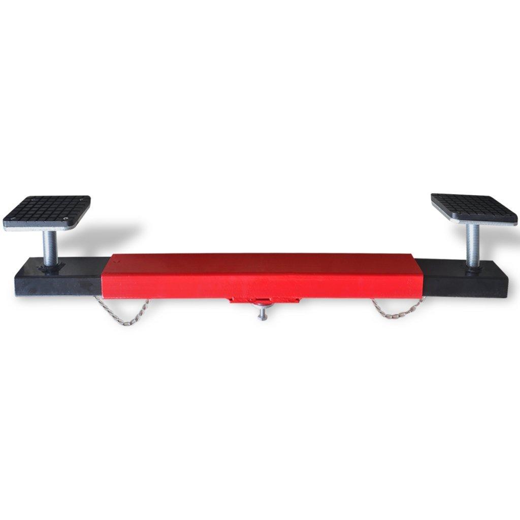 Festnight Pont É lé vateur Support de Moteur 2 tonnes Rouge 72, 5 x 12 x 19cm (L x P x H)