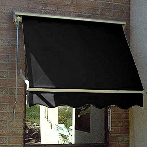 Awntech Retractable Window Awning 3'W x 2'D x 2'H Black