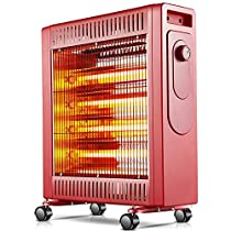MAZHONG Space Heaters Portable Heater, 2.1 KW, Red, Black (Color : Red)