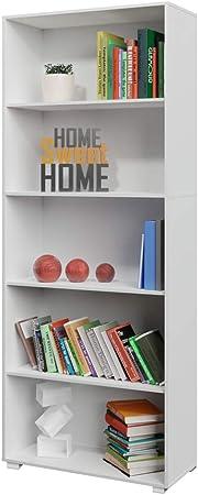 Deuba Estantería libreria Biblioteca Vela Blanco de 5