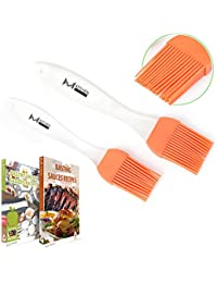 CheckOut mKitchen Orange Silicone Basting Pastry Oil Brush Set of 2 - 2 Recipe eBooks - Good for Grilling Marinating Turkey... discount