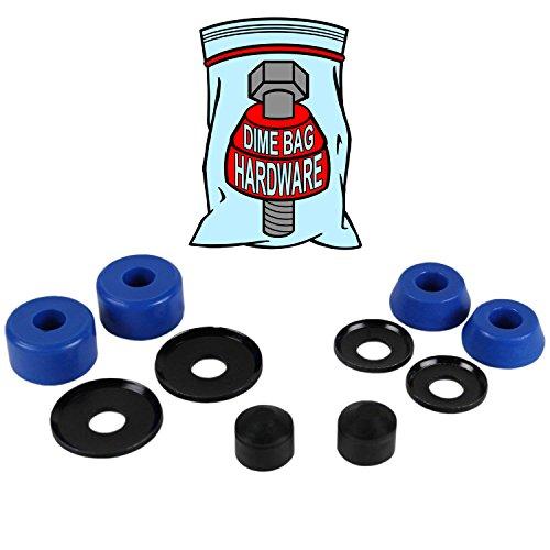 Skateboard Truck Rebuild Kit Bushings Washers Pivot Cups For 2 Trucks (blue)