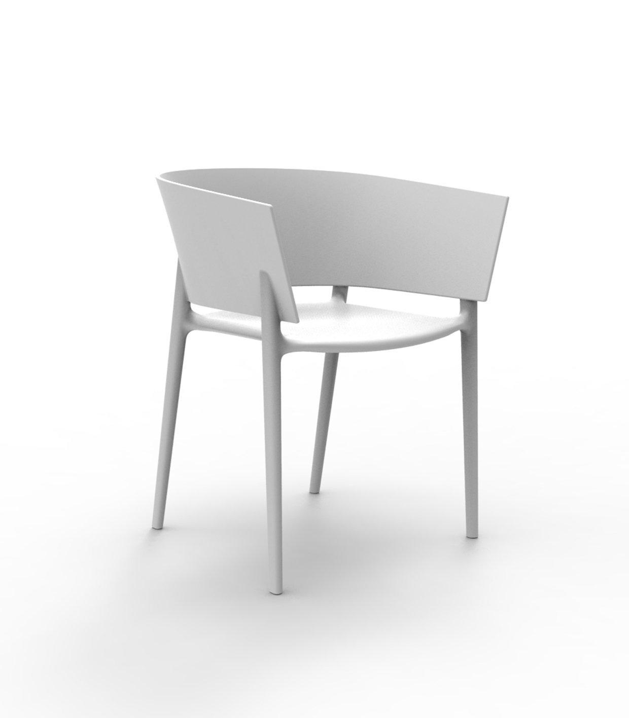 Vondom - Africa Armlehnstuhl - weiß - Eugeni Quitllet - Design - Gartenstuhl - Terrassenstuhl