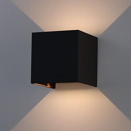 K Bright Applique Murale 7w Led Lampe Carree Murale Interieur Exterieur Reglable Eclairage Lumieres De La Nuit Mur Projecteur Lampe Moderne Lampe