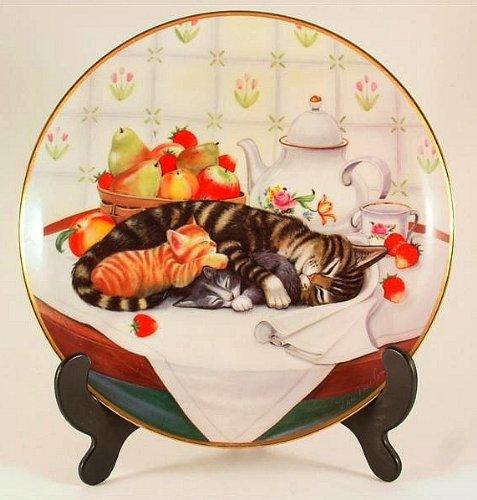 Franklin Mint cat plate - Cat Nap by Tim MacComlin - CP867