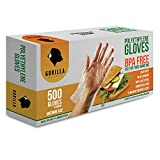 500 BPA Free Disposable Poly PE Gloves Medium, Food