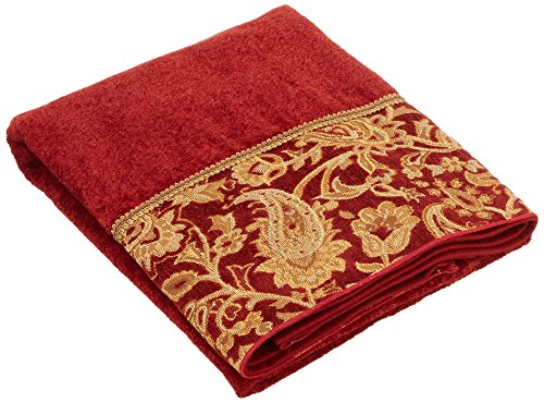 Avanti Linens Arabesque Bath Towel, Brick - 100-Percent cotton exclusive of the embellishments Made in North America Decorative bath accessories - bathroom-linens, bathroom, bath-towels - 51Y9fRiwOiL -