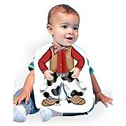 Just Add A Kid Baby Boy's Cowboy 247 Baby Bib 0-6 Months White
