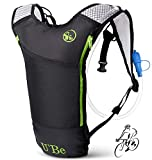 Hydration Pack for Running, Biking, Hiking, Climbing. Camel Backpack with 2L Water Bladder.