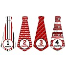 Monthly Baby Boy NCAA Ohio State Football Tie Stickers Monthly Tie Stickers OSU Monthly Stickers Monthly Tie Stickers Monthly Sports Stickers UNCUT