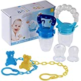 PChero Fresh Food Feeder Pacifier 2 Pack + 2pcs Pacifier...