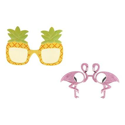 MagiDeal 1x Gafas de Sol de Piña con 1x Flamenco Gafas de ...
