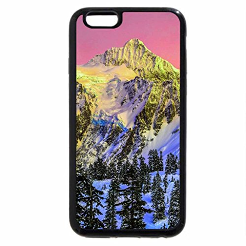 iPhone 6S Case, iPhone 6 Case (Black & White) - magnificently colored winter mountainscape