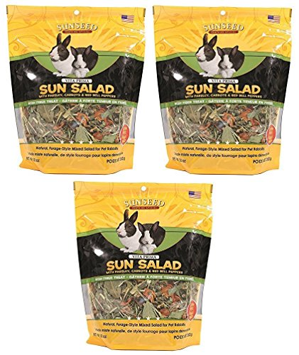 Sun Seed Vitakraft Vita Prima Sun Salad Treat for Rabbits (Pack of 3)