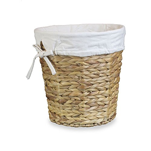 Water Hyacinth Lined Waste Paper Bin by Red Hamper