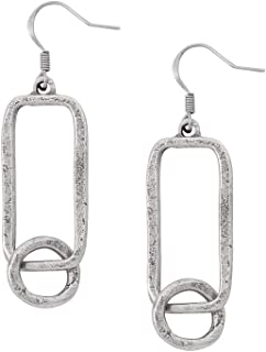product image for DANFORTH - Road Trip Earrings - 1 5/8 Inch - Pewter - Surgical Steel Wires - Handcrafted - USA