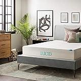 Lucid® Colchón de Espuma viscoelástica con Gel de 30 cm Triple Capa, Espuma de Gel ventilada de 1.8 kg, certificación CertiPUR-US, garantía de 10 años en EE. UU, matrimonial