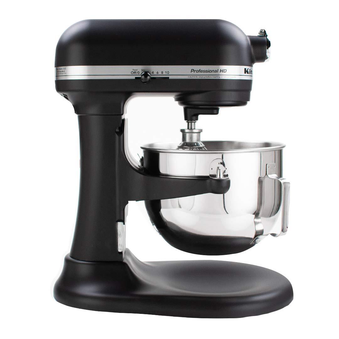 KitchenAid KG25H0XBM Professional HD Series Stand Mixer, 5 Qt, Matte Black