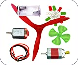 Kutuhal Hobby Science Project Material Kit Having 1 Dc Toy Motor, 1 Dynamo Motor, 1 Three-Blade Fan, &More