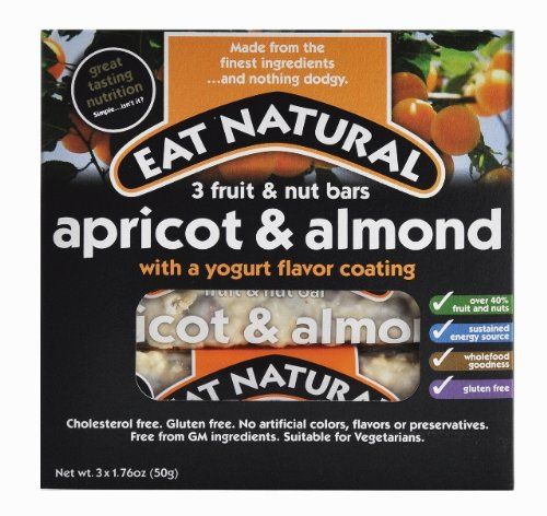 Eat Natural Fruit and Nut Bars, Apricot and Almond with a Yogurt Coating, 3 Count (Pack of 3) (Apricot Yogurt Bars)