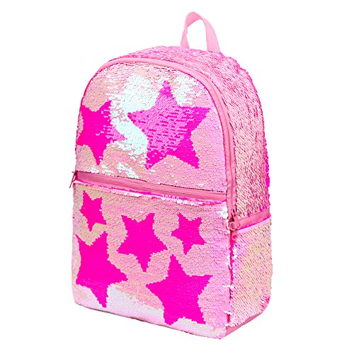 Sequin School Backpack for Girls Kids Cute Elementary Book Bag Bookbag Teen Glitter Sparkly Back Pack ()