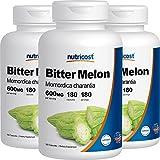 Nutricost Bitter Melon 600mg, 180 Capsules (3 Bottles)