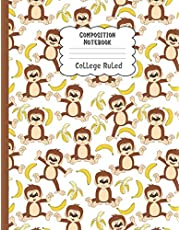 Composition Notebook College Ruled: Funny Monkey Notebook | Cute College Ruled Journal for school, college, take notes | For teens, students, ... Gift or Birthday Present for Adults and Kids