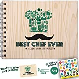 GIFTS FOR CHEFS - Best Chef Ever Recognition Award Personalizable Booklet With Matching Card + Stickers Included. Chef Gifts, The Chef Says: Quotes, Quips and Words of Wisdom. Pillow & Toast Gifts.