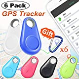 6 Pack Smart Key Finder Locator GPS Tracker - Kidaily Pet Tracker Alarm for Key Wallet Car Kids Bag Dog Cat Child Bag Phone Selfie Shutter Wireless Seeker Anti-Lost Tag Outdoor Travel Camping Gift