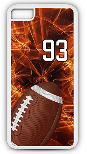 all F010Z Choice of Any Personalized Name or Number Tough Phone Case by TYD Designs in White Plastic and Black Rubber with Team Number 93 ()